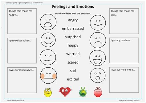 worksheets for preschoolers about feelings them