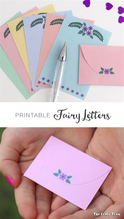 printable fairy letters  craft train