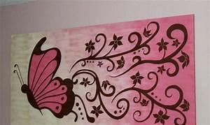 Einfache Bilder Malen : leinwand malen romantisch schmetterling blumen rosa nuancen malen in 2019 pinterest ~ Eleganceandgraceweddings.com Haus und Dekorationen