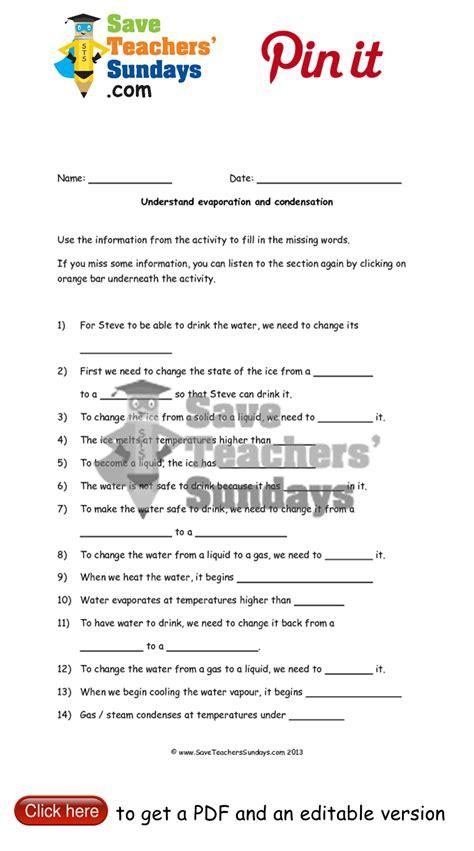 evaporation worksheets year 5 evaporation worksheet year 5 1592118 worksheets library
