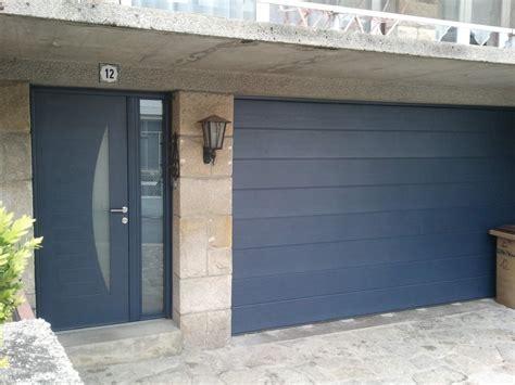 porte de garage moderne r 233 alisation solabaie rennes portes d entr 233 e et de garage assorties