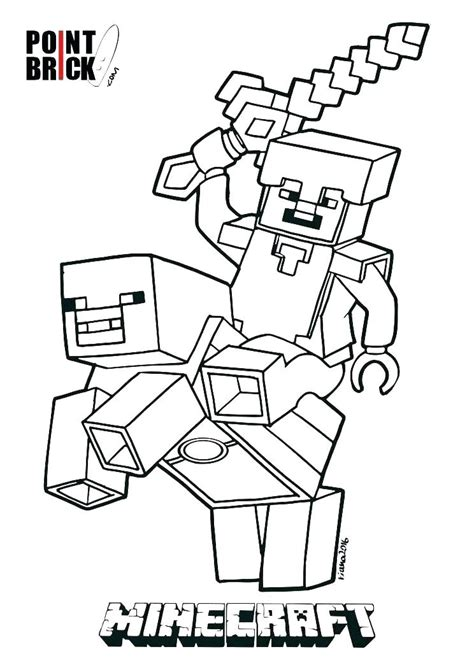 Minecraft Coloring by Minecraft Coloring Pages Herobrine At Getcolorings