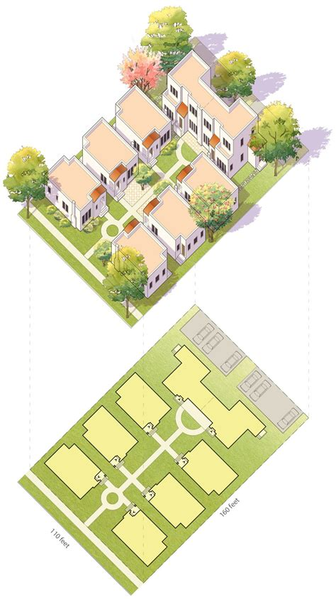 idealized drawing   typical bungalow court