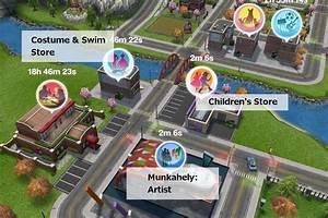 A sims freeplay város épületei és munkahelyei - The Sims