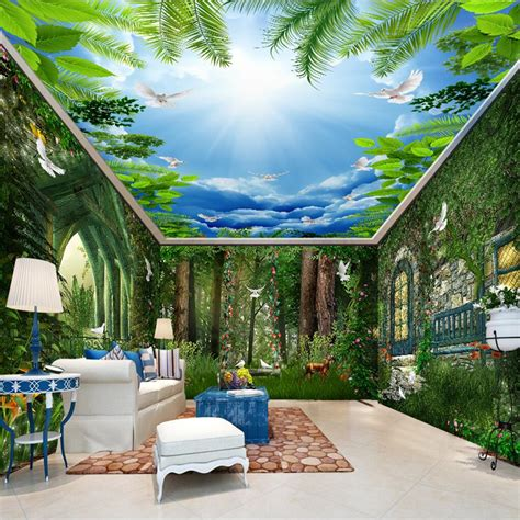 3d Wallpapers For House Walls by Beibehang Tale Forest Flower Vine House