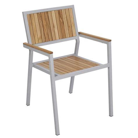 chaises de jardin en soldes table et chaises terrasse carrée aluminium et bois