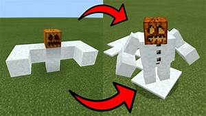 How To Spawn a MUTANT SNOW GOLEM in Minecraft PE - YouTube