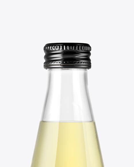 Premium cough syrup liquid medicine mockup. Clear Glass Bottle With Lemonade Mockup in Bottle Mockups ...