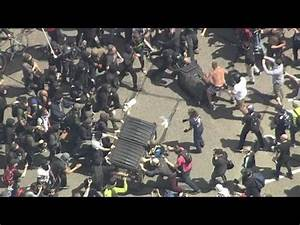 Protesters fight in Berkeley over President Donald Trump ...