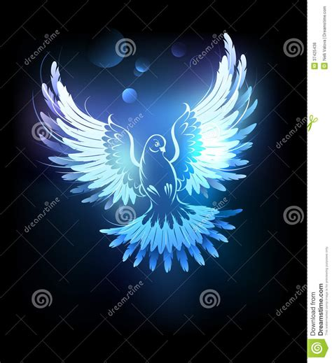 This css3 version is hardware accelerated, simple, and is much more performant. Glowing blue dove stock vector. Image of angel, cartoon ...