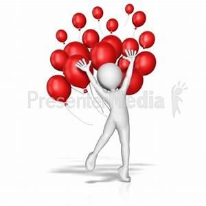 Balloon Jump Celebration - Presentation Clipart - Great