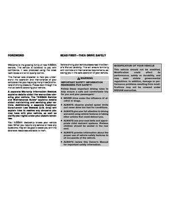 2008 Nissan Versa - Owner's Manual - PDF (304 Pages)