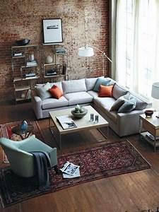 mille et une idees pour le salon style industriel en 44 With couleur moderne pour salon 18 personnalisez votre salon avec le meuble tv industriel