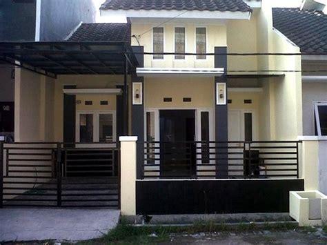 kombinasi cat warna coklat  depan rumah