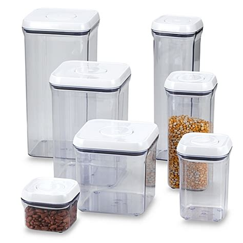 food canisters kitchen oxo grips square food storage pop container bed