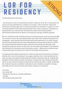 Sample Letter Of Recommendation For Residency Residency A Professional Sample LOR For Residency Residency LOR Professional Residency Letter Of Recommendation Sample RESIDENCY PLANNING CLASS OF 2011