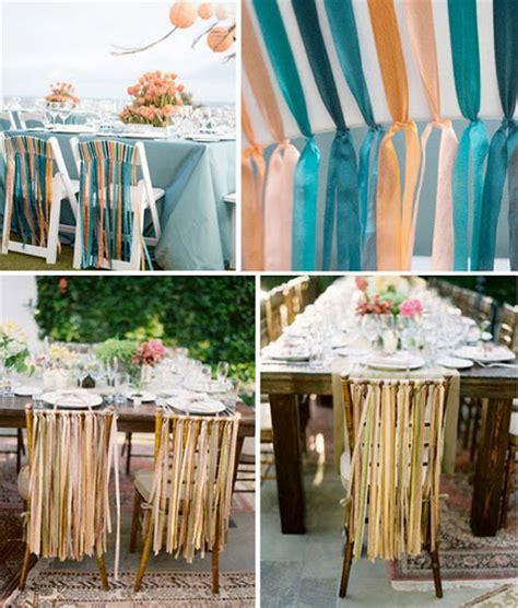 deco chaise mariage decoration de mariage avec du ruban mariageoriginal