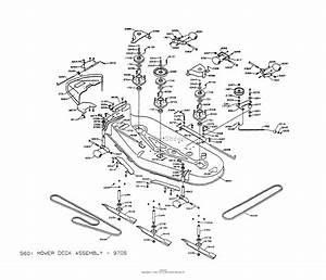 Dixon Ztr 5601  1997  Parts Diagram For Mower Deck Assembly