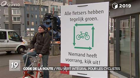 le feu vert integral deux roues adopte en belgique velo