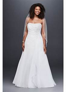 chiffon plus size wedding dress with beaded bodice david With david s bridal simple wedding dresses