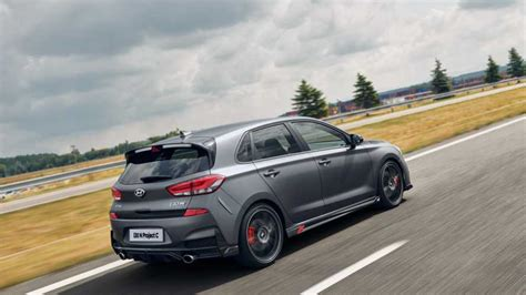 From the outside, an untrained eye won't see a difference between a regular i30 and the n version. 2020 Hyundai i30 N Project C | Motor1.com Photos