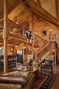 Log Home Stairs & Rails - Log Homes of America Rustic