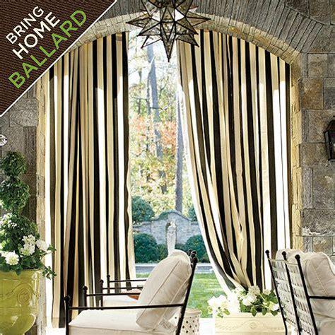 ballard indoor outdoor drapery panel with weighted corners