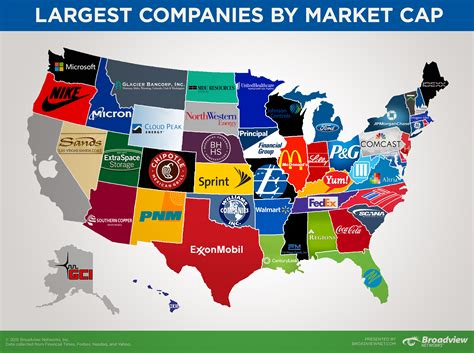 This Map Shows The Biggest Company In Each State By Market