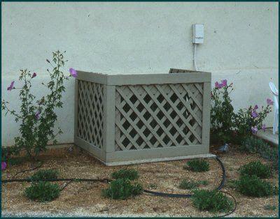 air conditioner cover ideas  pinterest