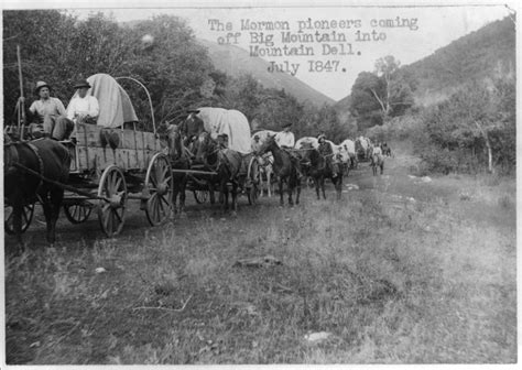 pioneer pictures file the mormon pioneers coming off big mountain into mountain dell png
