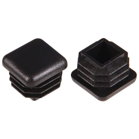 plastic sofa legs lowes shop the hillman group 2 pack 7 8 in black plastic inside