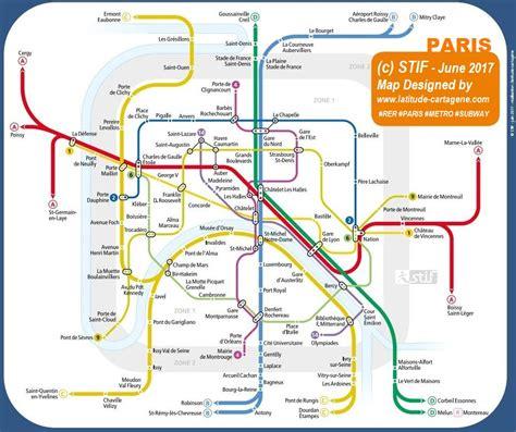 Carte Metro Rer by Plan Rer