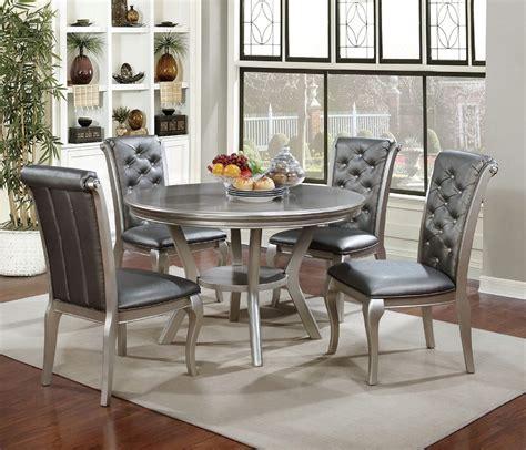 amina silver contemporary dining