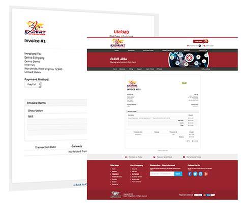 whmcs invoice quote template branding service