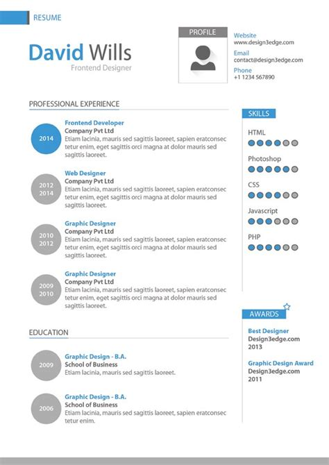 professional resume template design fribly