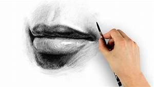 How to Draw Lips - Step by Step - YouTube