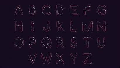 Alphabet Animated Font Snake Wrapped