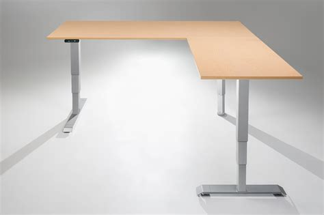 l shaped adjustable desk the multitable electric l shaped standing desk multitable