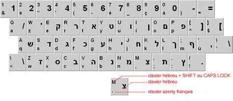 clavier hebraique