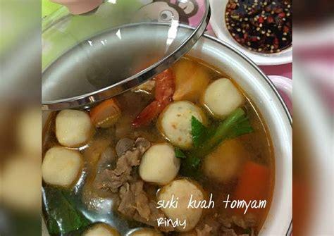 Selain orisinil, tomyam seafood juga memiliki cita rasa yang sangat enak dengan perpaduan kuah asam pedas dan hewan lautnya yang siap. Resep Suki kuah tomyam oleh Rindy Anjarsari - Cookpad