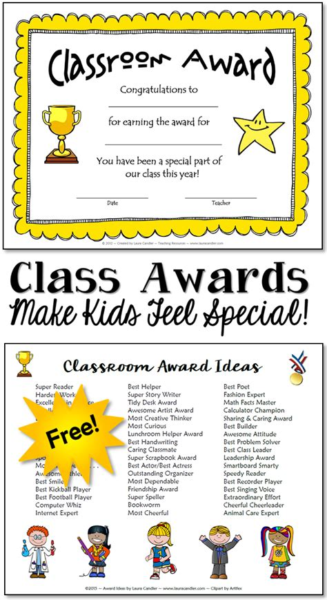 classroom awards  kids feel special laura candlers