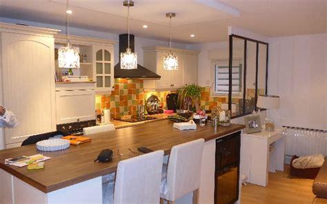 cuisine dinatoire réalisation d 39 une cuisine ouverte avec création îlot