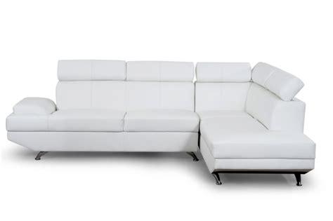 canapé simili cuir blanc scoop canapé d 39 angle droit cuir et simili 4 places