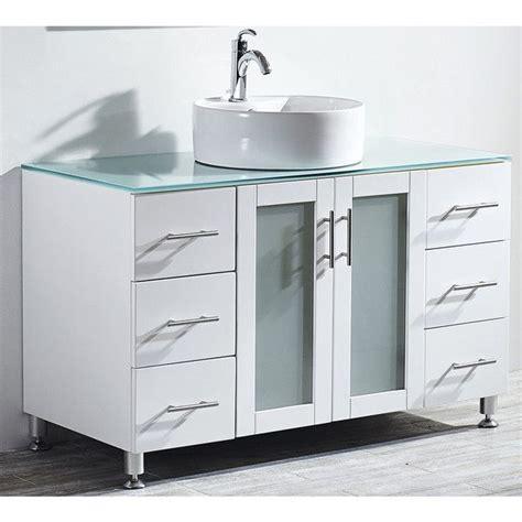 48 inch vessel sink vanity vinnova tuscany 48 inch single vanity in white with