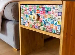Nachttisch Selber Bauen : diy nachttisch mit briefmarken handmade kultur ~ Lizthompson.info Haus und Dekorationen