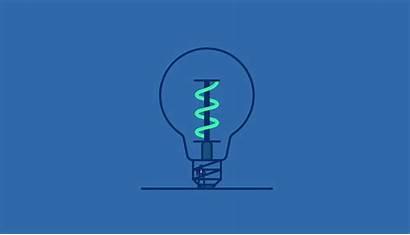 Bulb Animation Motion Energy Future Behance Vector