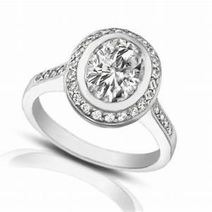 205 ct ladies oval shape diamond engagement ring With oval shaped wedding ring
