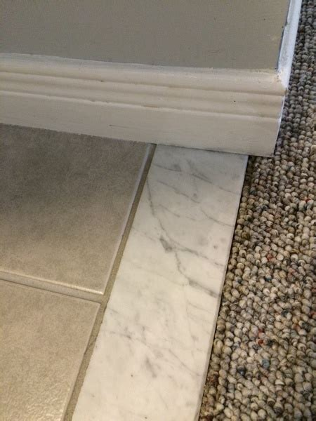 How Do I Remove This Marble Threshold?   Tiling, ceramics