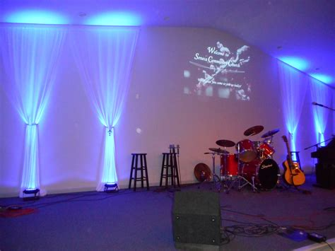 simple fabric church stage design ideas