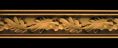 crown moulding acorns  oak leaves wood carved